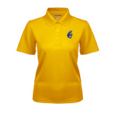 Ladies Gold Dry Mesh Polo-Spartan Head