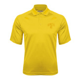 Gold Textured Saddle Shoulder Polo-Arched UNCG w/Spartan