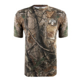 Realtree Camo T Shirt w/Pocket-Arched UNCG w/Spartan
