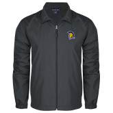Full Zip Charcoal Wind Jacket-Spartan Logo