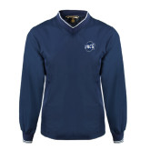 Navy Executive Windshirt-UNCG Shield