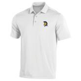 Under Armour White Performance Polo-Spartan Logo