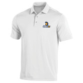 Under Armour White Performance Polo-Lock Up