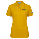 Ladies Easycare Gold Pique Polo-Baseball SoCon Champions 2017 Text