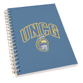 Clear 7 x 10 Spiral Journal Notebook-Arched UNCG w/Spartan