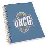 Clear 7 x 10 Spiral Journal Notebook-UNCG Shield