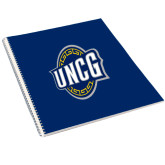 College Spiral Notebook w/Clear Coil-Arched UNCG w/Spartan
