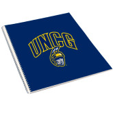College Spiral Notebook w/Clear Coil-UNCG Shield
