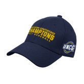 Navy Heavyweight Twill Pro Style Hat-Baseball SoCon Champions 2017 Text