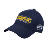 Navy Heavyweight Twill Pro Style Hat-2018 Mens Basketball Champions