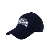 Navy Twill Unstructured Low Profile Hat-Spartans Arched