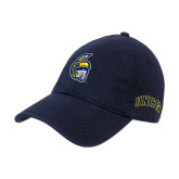 Navy Twill Unstructured Low Profile Hat-Spartan Head
