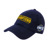 Navy Twill Unstructured Low Profile Hat-Baseball SoCon Champions 2017 Text