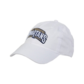 White Twill Unstructured Low Profile Hat-Spartans Arched