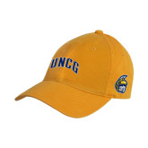 Gold Twill Unstructured Low Profile Hat-Arched UNCG
