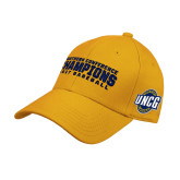 Gold Heavyweight Twill Pro Style Hat-Baseball SoCon Champions 2017 Text