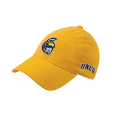 Gold Flexfit Mid Profile Hat-Spartan Head