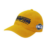 Gold Flexfit Mid Profile Hat-Baseball SoCon Champions 2017 Text