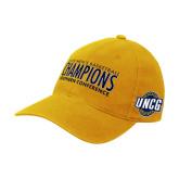 Gold Flexfit Mid Profile Hat-2018 Mens Basketball Champions