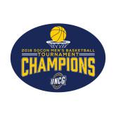 Small Magnet-2018 Mens Basketball Champions - Net w/ Basketball