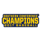 Large Magnet-Baseball SoCon Champions 2017 Text, 12 inches wide