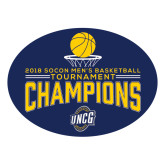 Large Magnet-2018 Mens Basketball Champions - Net w/ Basketball