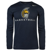NIKE Navy Legend Long Sleeve Tee-