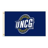 3 ft x 5 ft Flag-UNCG Shield