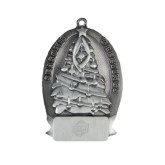 Pewter Tree Ornament-UNCG Shield Engraved