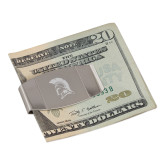 Dual Texture Stainless Steel Money Clip-Spartan Logo Engraved