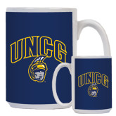 Full Color White Mug 15oz-Arched UNCG w/Spartan