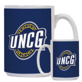 Full Color White Mug 15oz-UNCG Shield