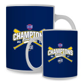 Full Color White Mug 15oz-Baseball SoCon Champions 2017 - Crossed Sticks