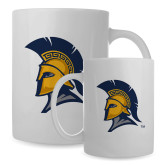 Full Color White Mug 15oz-Spartan Logo