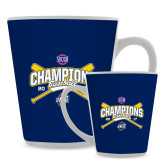 12oz Ceramic Latte Mug-Baseball SoCon Champions 2017 - Crossed Sticks