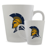 Full Color Latte Mug 12oz-Spartan Logo