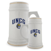 Full Color Decorative Ceramic Mug 22oz-Arched UNCG w/Spartan