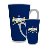 Full Color Latte Mug 17oz-Baseball SoCon Champions 2017 - Crossed Sticks