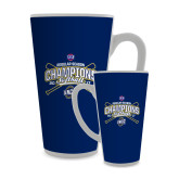 Full Color Latte Mug 17oz-2017 SoCon Regular Season Softball Champions - Crossed Bats