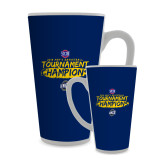 Full Color Latte Mug 17oz-2018 Mens Basketball Champions - Brush