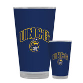 Full Color Glass 17oz-Arched UNCG w/Spartan
