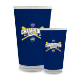 Full Color Glass 17oz-Baseball SoCon Champions 2017 - Crossed Sticks