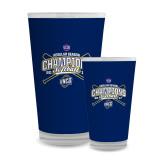 Full Color Glass 17oz-2017 SoCon Regular Season Softball Champions - Crossed Bats