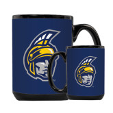Full Color Black Mug 15oz-Spartan Head