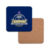 Hardboard Coaster w/Cork Backing-2017 SoCon Regular Season Basketball Champions - Banner