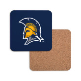 Hardboard Coaster w/Cork Backing-Spartan Logo