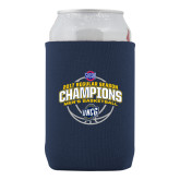 Collapsible Navy Can Holder-2017 SoCon Regular Season Basketball Champions - Arched
