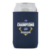 Collapsible Navy Can Holder-2017 SoCon Regular Season Softball Champions - Diamond