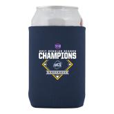 Collapsible Navy Can Holder-2017 SoCon Regular Season Softball Champions - Diamond