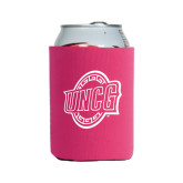 Collapsible Hot Pink Can Holder-UNCG Shield
